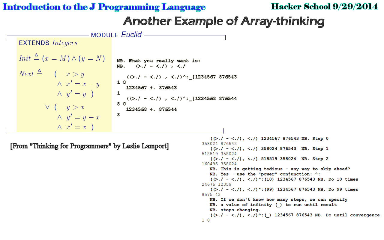 Another array-thinking example